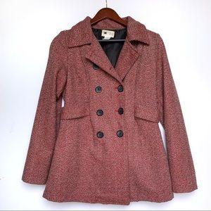 Needle & Thread Herringbone Tweed Pea Coat